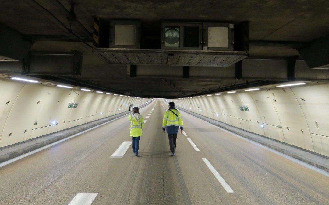 Koala nettoie le tunnel de l'A86