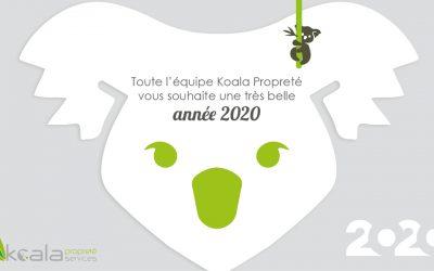 Toute l'équipe Koala Propreté vous souhaite une très belle année 2020